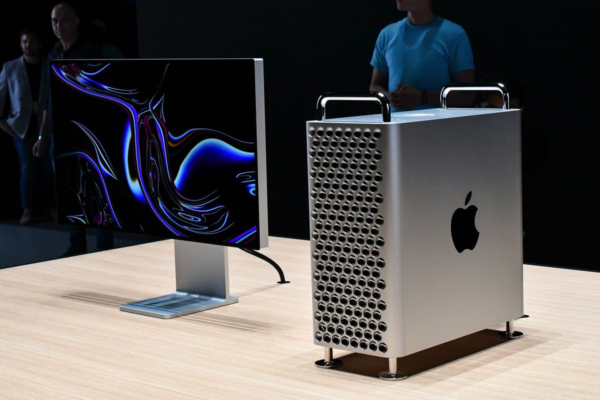 mac pro computer and monitor